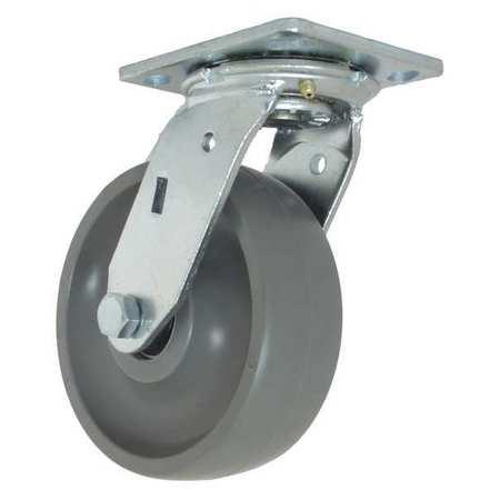 "RWM Swivel w/6x2"" Solid Elastomer Wheel Type 46-GTB-0620-S"