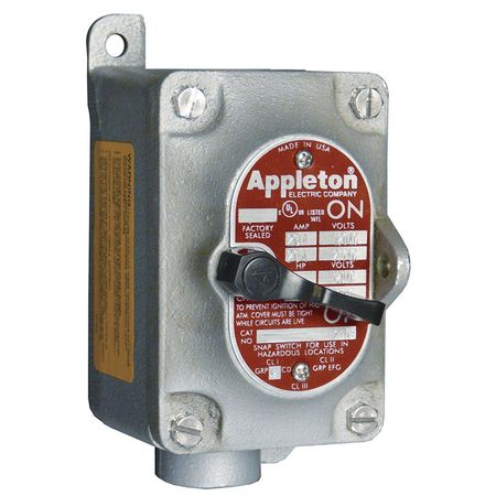Manual Motor Starter Dead End Hub 1 2P by USA Appleton Electrical Motor Manual Switches & Starters