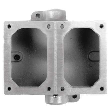 Mounting Body 2Gang 1In Feed Thru Alum by USA Appleton Electrical Boxes