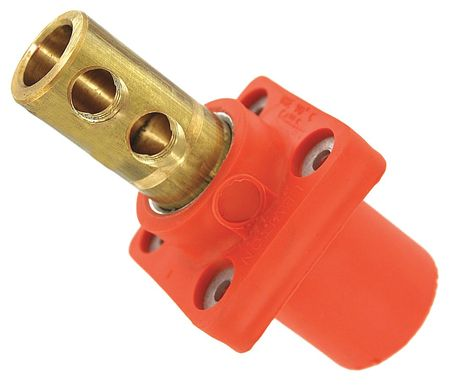 Male Connector Orng Taper Nose 300AC/DC by USA Leviton Electrical Single Pole Devices