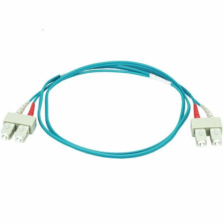 Fiber Optic Patch Cord SC/SC 1m Aqua by USA Value Brand Fiber Optic Cable