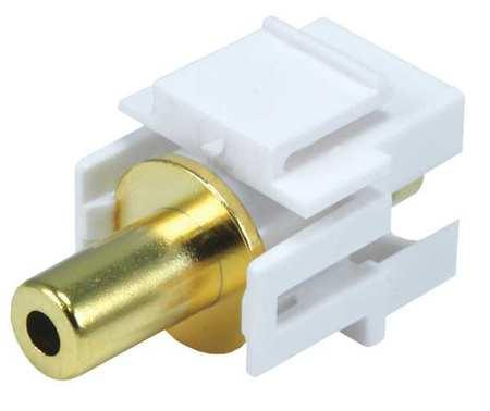 A/V Wallplate 3.5mm Stero White by USA Monoprice Voice & Data Jacks
