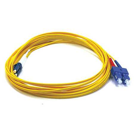 Fiber Optic Patch Cord LC/SC 5m Single by USA Monoprice Fiber Optic Cable