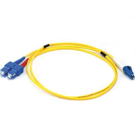 Fiber Optic Patch Cord LC/SC 1m Duplex by USA Monoprice Fiber Optic Cable