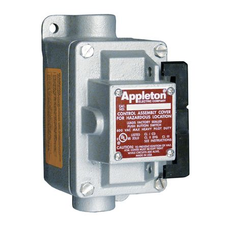 Tumbler Switch EDSC Series 1 Gang 2 Pole by USA Appleton Electrical Push Button Control Stations