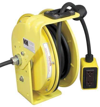 Cord Reel 25 ft 12/3 SJ Yellow 120VAC Model RTBB3L WDD520 J12F by USA KH Extension Cord Reels