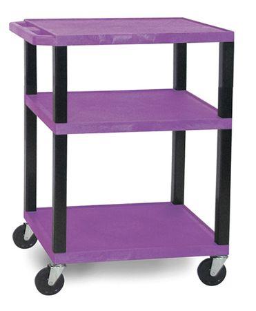 Value Brand Utility Cart 300 lb. Cap. Resin 2 Shlvs Type WT34PE-B