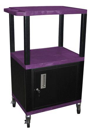 Value Brand Audio-Visual Cart 300 lb. Purple Type WT42PC2E-B