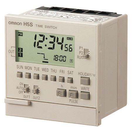 Electronic Timer 7 Days (2) SPST NO Model H5S WB2 by USA Omron Electronic Timers