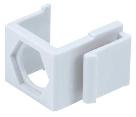 WallPlate Blank Insert Ftype White PK10 by USA Monoprice Voice & Data Outlets Boxes Faceplates