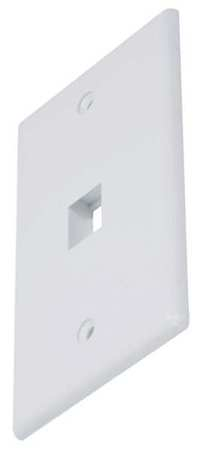WallPlate Blank Keystone 1 Hole White by USA Monoprice Voice & Data Outlets Boxes Faceplates
