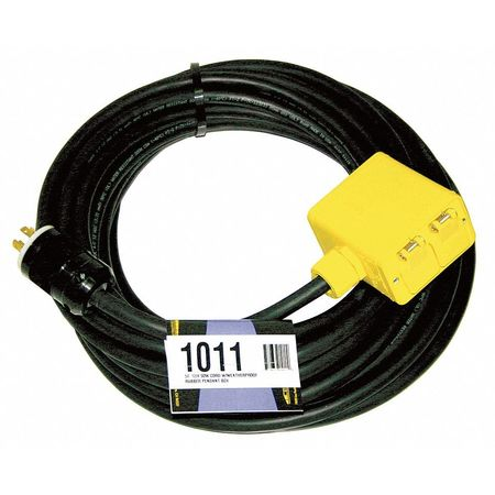 Extension Cord 50ft 12/4 20A SOW Black by USA CEP Electrical Generator Accessories
