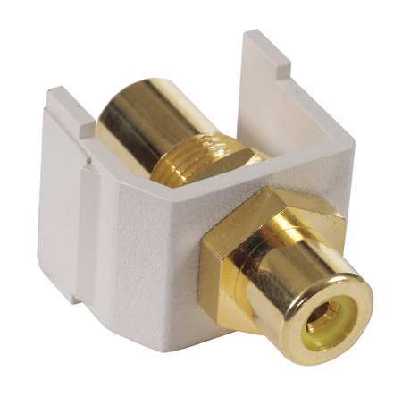 F/F Coupler RCA PT Ylw by USA Hubbell Premise Audio Video Splitters Connectors & Adapters
