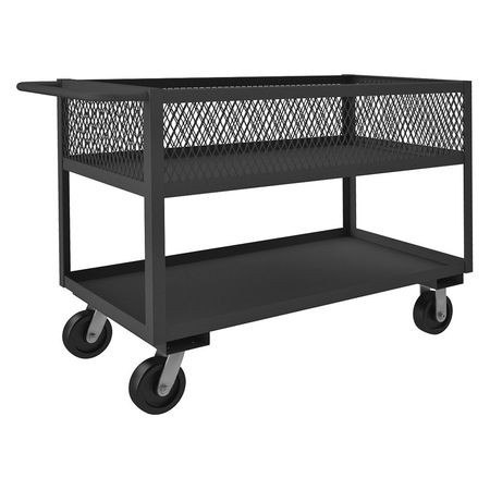 Durham Utility Cart Steel 54 Lx25 W 2400 lb. Type RSC12-EX2448-2-3.6K-95