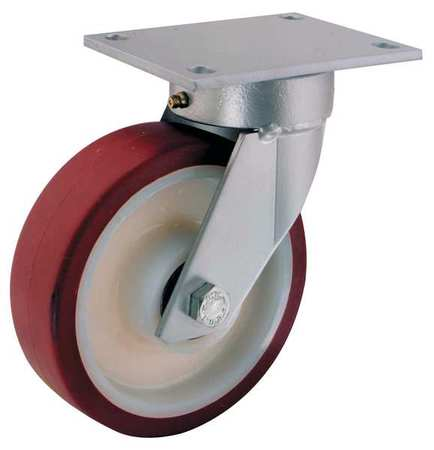 Value Brand Kingpinless Plate Caster Swivel Poly 5 in 550 lb