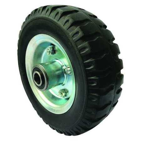 Value Brand Solid Rubber Wheel 6 in Dia 250 lb Black