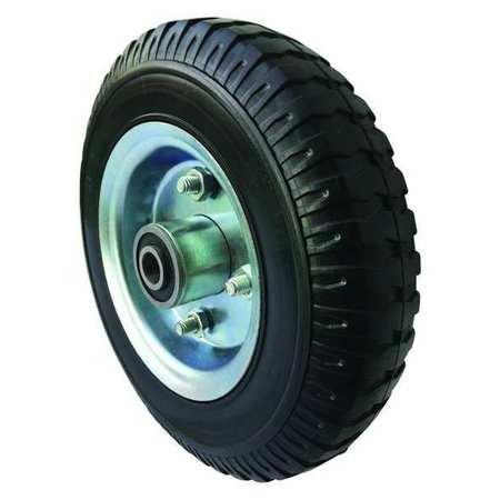 Value Brand Solid Rubber Wheel 8 in Dia 280 lb Black