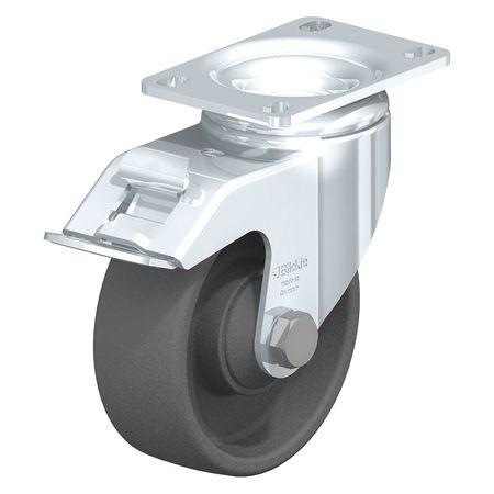 """Blickle Swivel Plate Caster Gy Nyln 3-1/2"""" Brake"""