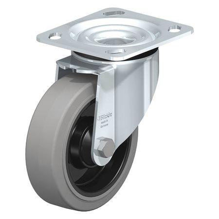 "Blickle Swivel Plate Caster Solid Rbr 5"" 550 lb."