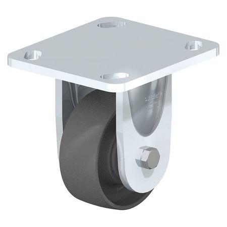 "Blickle Rigid Plate Caster Gray Nylon 8"" 660 lb."