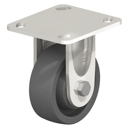 "Blickle Rigid Plate Caster Gray Nylon 4"" 770 lb."