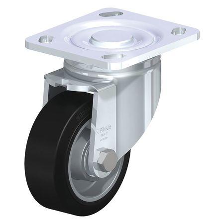 "Blickle Swivel Plate Castr Solid Rbbr 4"" 440 lb."