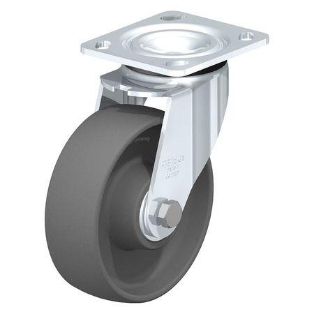 """Blickle Swivel Plate Caster Gry Nylon 6"""" 880 lb."""