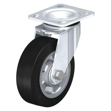 "Blickle Swivel Plate Caster Solid Rbr 6"" 880 lb."