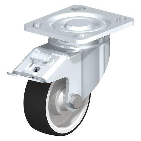 "Blickle Swivel Plate Caster PU 4"" Brake Type LH-POTH 100K-14-FI"