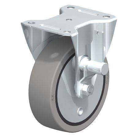 "Blickle Rigid Solid Rbbr Whl Castr 6-5/16"" Brake"