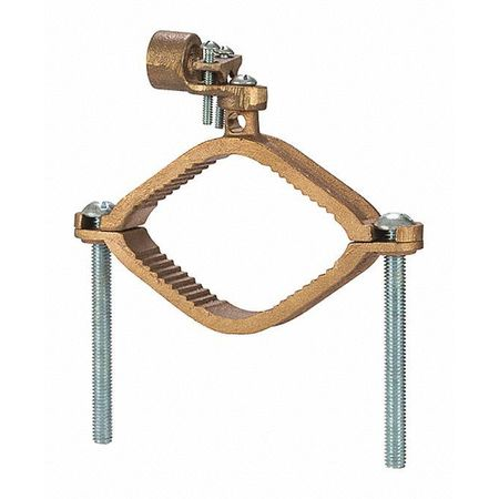 Ground Clamp Hd 2 1/2 4 1/2 Hub PK6 by USA NSI Electrical Ground Rods & Clamps