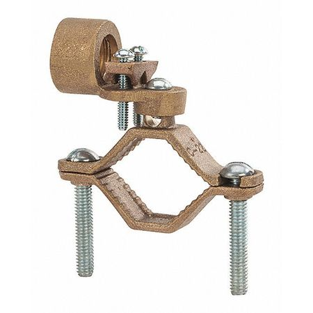Ground Clamp Hd 1 1/4 2 3/4 Hub PK8 by USA NSI Electrical Ground Rods & Clamps