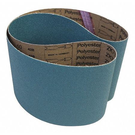Coarse Grade 36 Grit 25 Width VSM 103208 Abrasive Belt 48 Length Zirconia Blue Cloth Backing Pack of 2
