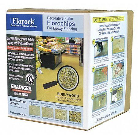Floor Flake,10 Lb.,burlywood
