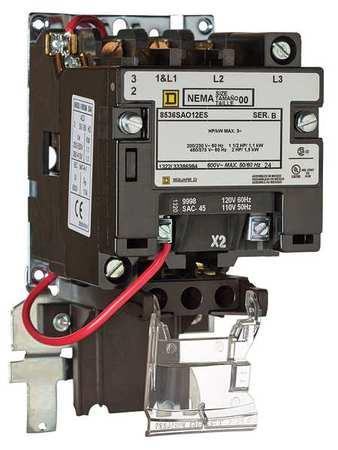 Magnetic Motor Starter NEMA 120V 18A 1P Model 8536SBO1V02ES by USA Square D Electrical Motor Magnetic Starters
