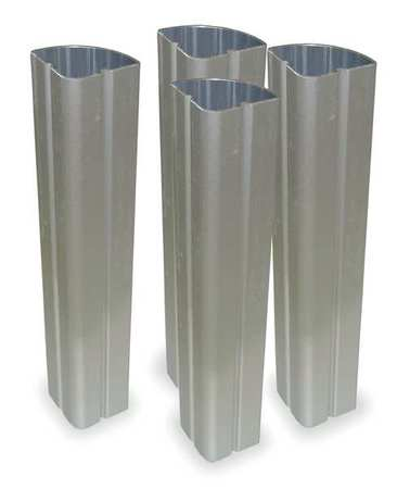 Rubbermaid Uprights Aluminum PK8