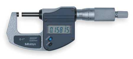 Mitutoyo Electronic Micrometer 0 1 In Ratchet