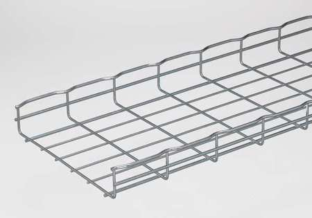 Wire Mesh Cable Tray W12 In L 6.5 Ft PK4 by USA Cablofil Wireways & Cable Trays