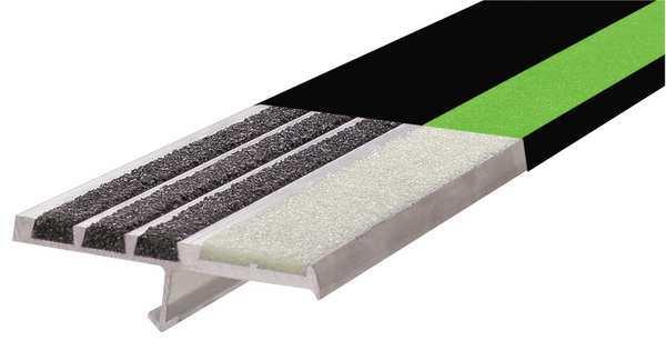 Soft Tread Anti Slip Coating : Extruded aluminum stair nosing