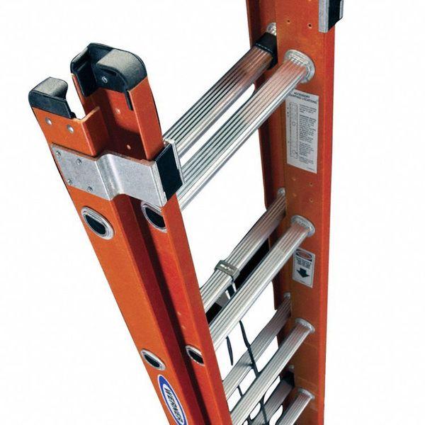 14 Aluminum Extension Ladder : Werner extension ladder fiberglass ft ia d