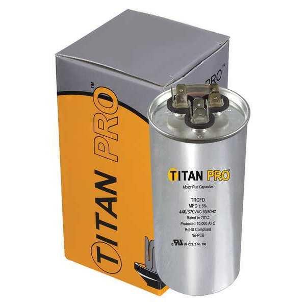 round motor run capacitors 370 440vac by titan pro zoro com