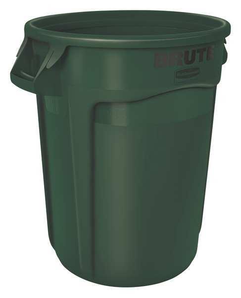 Rubbermaid 32 gal round dark green trash can fg263200dgrn - Garden waste containers ...