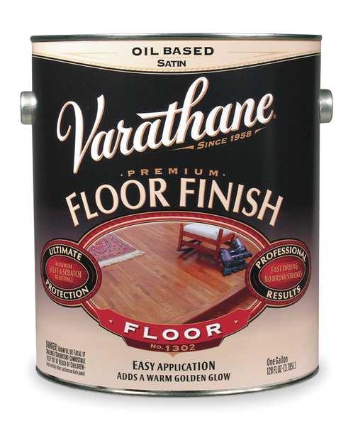 Varathane Floor Finish Applicator: Rust-Oleum Floor Finish, Crystal Clear, Satin, 1 Gal